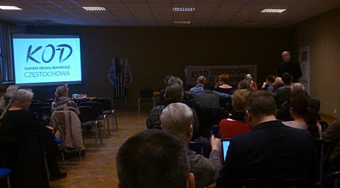 Spotkanie organizacyjne KOD Częstochowa 13.02.2016