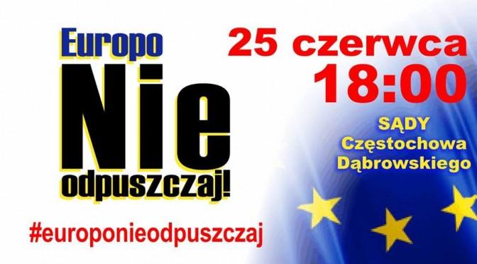 25.06.2018 – Spotykamy się ponownie pod Sądami. #europonieodpuszczaj !